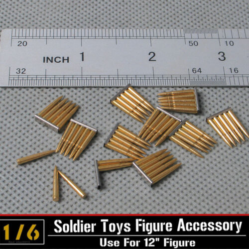 "1//6 Soldiers Story 5pc 98K Bullets 7.92*57Mauser Rifle Model f 12/"" Figure Action"