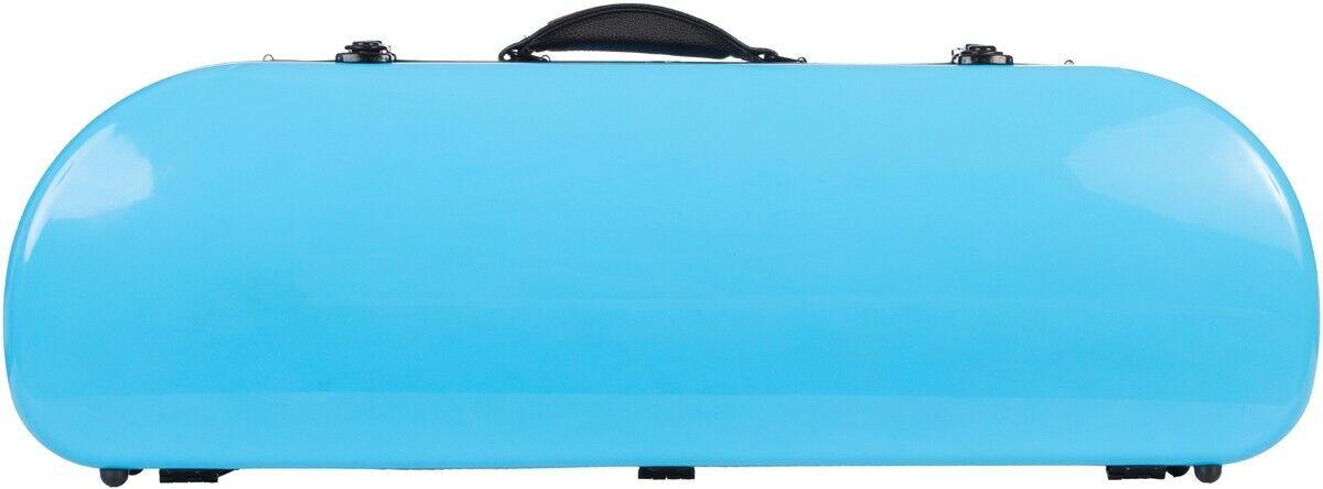 IE Half moon violin case Fiberglass Street 4 4 M-case Blau Sky