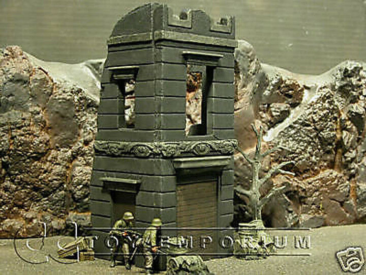 Pro Built 1 35 35 35 WWII 3 storia Italian negozio Diorama Ruin d4aba6