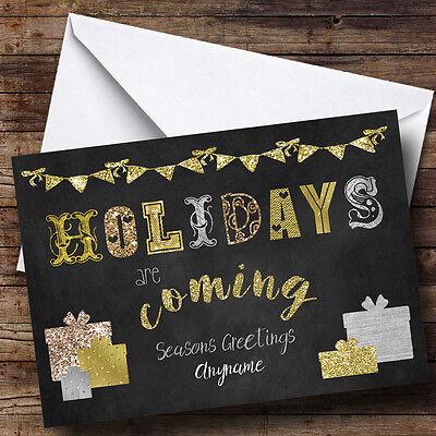 Miele Le Vacanze Sono Presenti A Venire Personalizzato Cartolina Di Natale- Gamma Completa Di Articoli