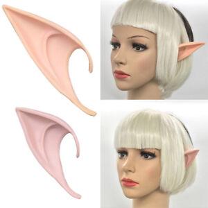 2 Pairs Hobbit Latex Elf Ears Cosplay Party Props Halloween Costume Gift