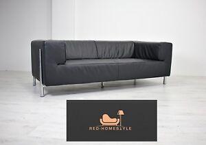 Koinor Zweisitzer Sofa Zu Couch Lounge Details Leder Klassiker Genesis Schwarz Designer OkuPXiTZw