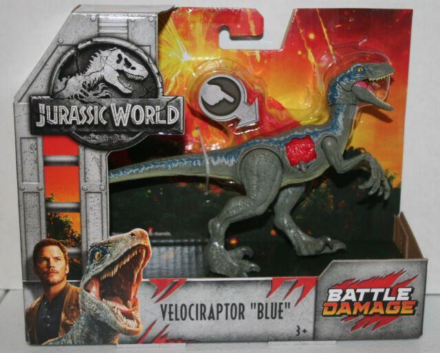 Jurassic World Battle Damage VELOCIRAPTOR BLUE BRAND NEW