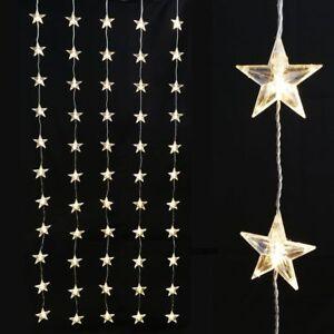 Fensterbeleuchtung Weihnachten Led.Details Zu Lichtervorhang 1x1 8 M Mit 60 Sterne Led Fensterbeleuchtung Weihnachten Strom