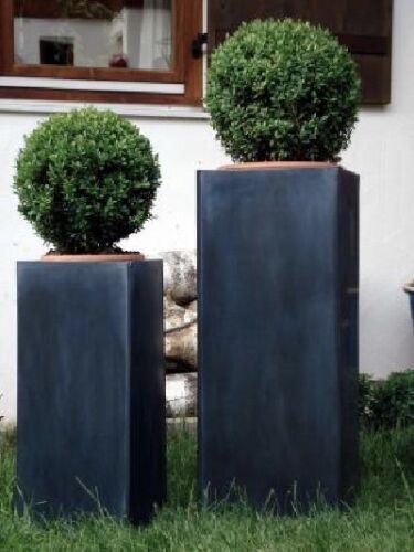 "Casa MINA fioriera portavasi in zinco /""Hong Kong/"" 2er Set Nero 80//60cm"