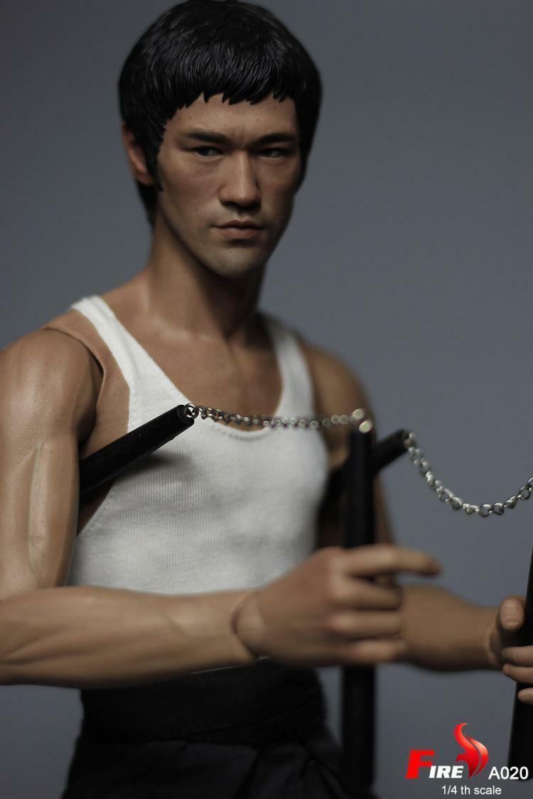 [expreso] 1 4 fuego Juguetes A020 Camino del Dragón Tang pulmón Bruce Lee 18  figura