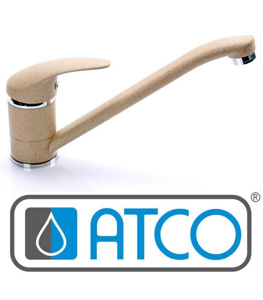 ATCO® HD Granit Beige Küchenarmatur Armatur Wasserhahn Küche Spüle | Verkauf  | Schön geformt  | Vorzugspreis  | Ab dem neuesten Modell