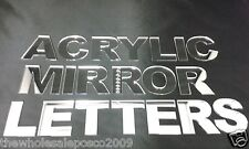 Mirror Flat Cut Letters Acrylic Alphabet In Upper Case 50 100 Amp 150mm High