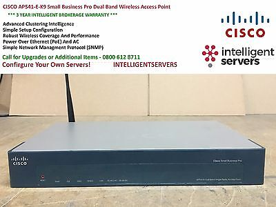 Cosciente Cisco Ap541n-e-k9 Small Business Pro Dual Band Wireless Access Point-