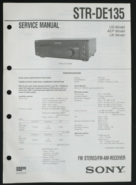 Sony Str Am Receiver Service Manual  Diagram  Parts List O228