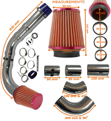 UNIVERSAL PERFORMANCE COLD AIR FEED INDUCTION INTAKE KIT – Ford 2