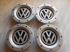 SET OF 4 VW WHEEL CENTRE CAPS FOR 9+12 SPOKE ALLOYS RS4s.147mm.REAR FIT 56-58mm