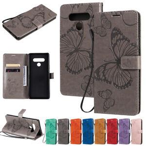 Butterfly-Wallet-cuir-Flip-case-cover-Pour-LG-K51-K61-K41S-V40-V50-Stylo-6-Q60