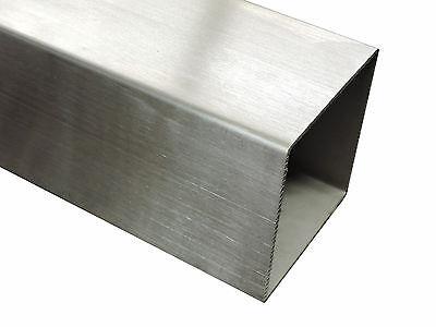 Vierkantrohr Edelstahl Quadratrohr geschliffen K240 Edelstahlrohr bis 145cm V2A