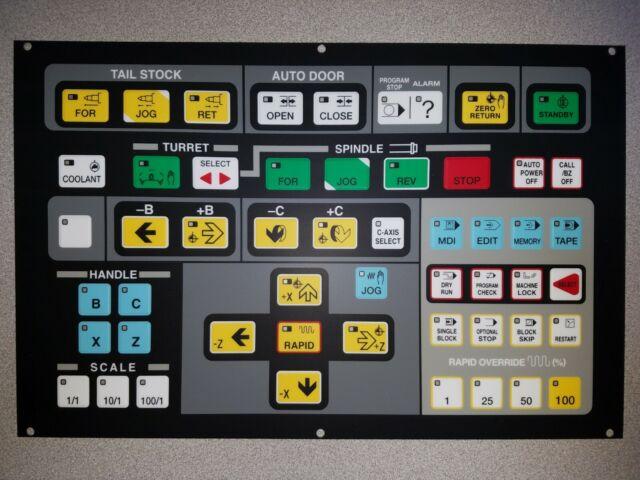 Hyundai Kia Wia Kiaturn SKT CNC Lathe Operating Membrane Key Sheet Overlay NEW