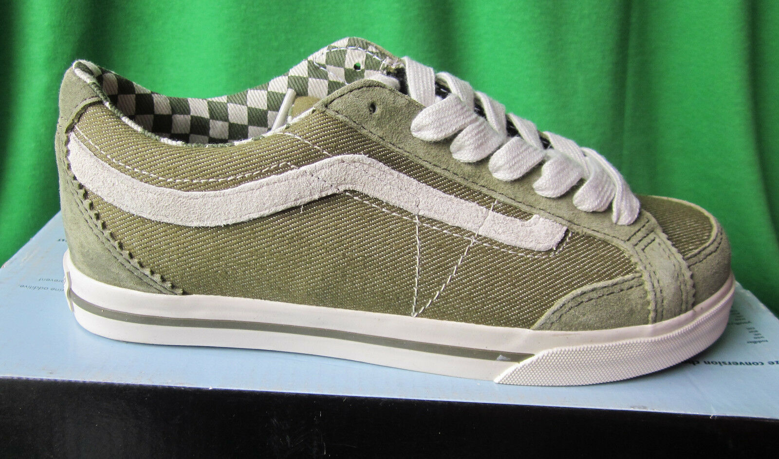 NIB WOMENS VANS BURNT ELBA SKATEBOARD SNEAKERS - BURNT VANS OLIVE - SIZE 5 37b84e