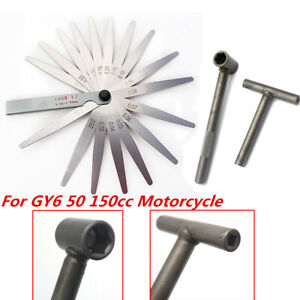 Scooter Engine Valve Screw Adjusting Spanner Kit Fit For Gy6 50 150cc Motorcycle