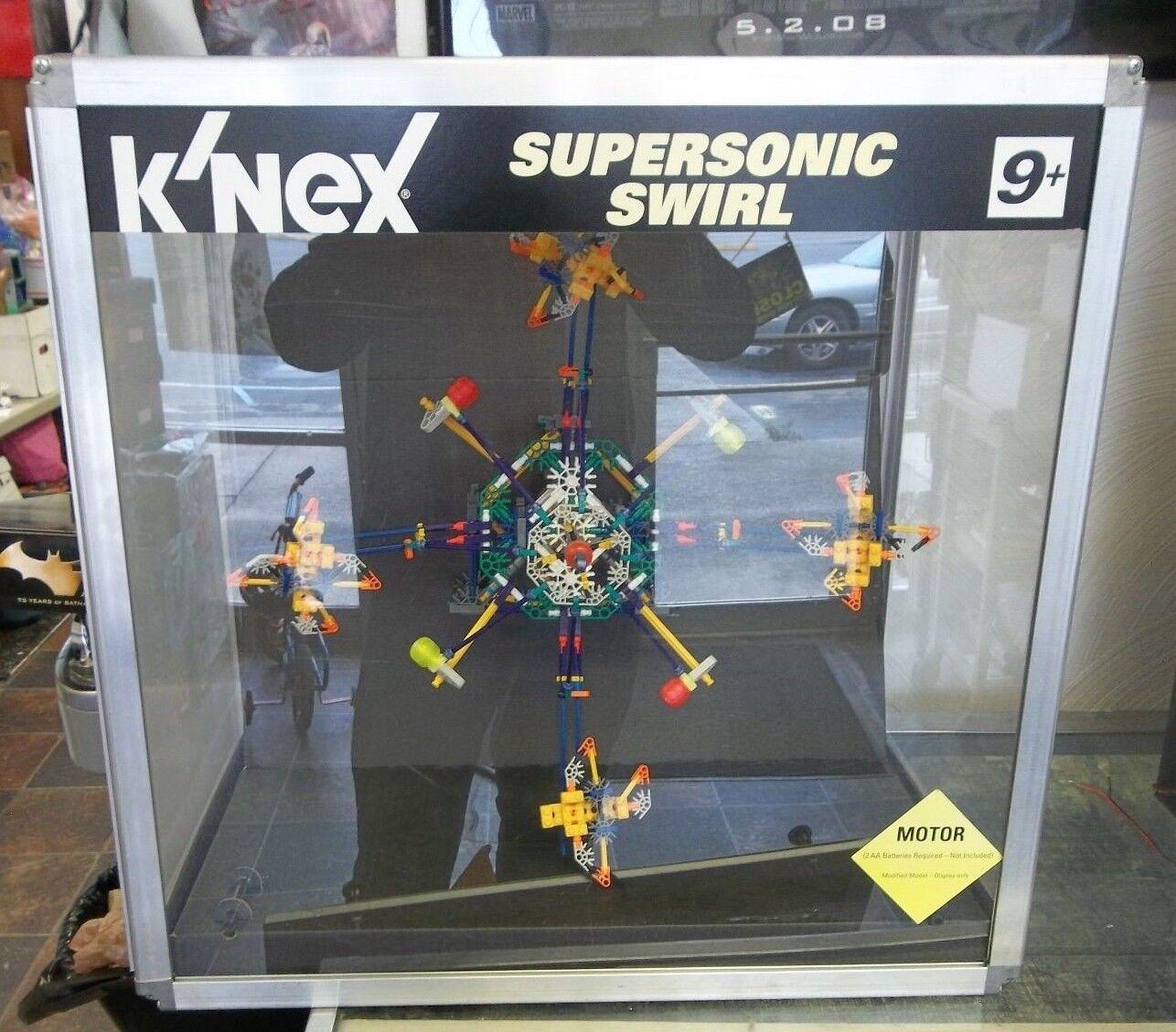 K 'nex Supersonic Remolino Vitrina En Funcionamiento