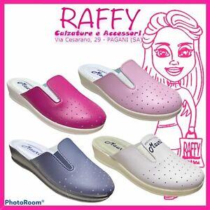 Pantofole Donna  - Ciabatte Chiuse Sabot Sanitarie Da Lavoro Made In Italy