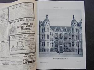 1898 Baugewerkszeitung 71/berlin Klopstockstrasse-ung 71 / Berlin Klopstockstraße Fr-fr Afficher Le Titre D'origine Prix Le Moins Cher De Notre Site