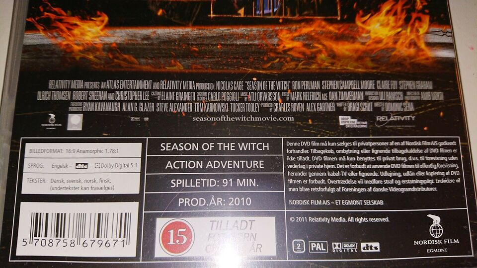 Season Of The Witch, DVD, action