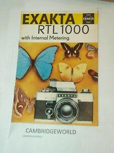 Exakta-RTL1000-CAMERAS-NEW-16-pages-BOOKLET-PRINTED-in-EAST-GERMANY-TTL-METERING