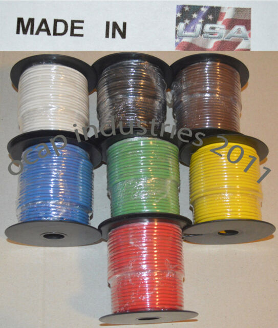 14 gauge 100' FEET X 7 ROLLS = 700' AWG PRIMARY AUTOMOTIVE WIRE COPPER STRANDED