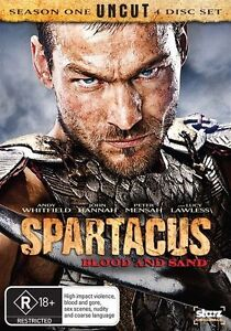 Spartacus-Blood-And-Sand-Season-1-DVD-2010-4-Disc-Like-New-R4-R-Rated