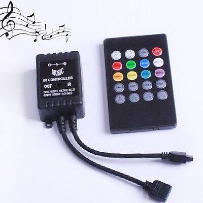 12V6A Sound Sensitive Music IR Controller For RGB 3528 5050 LED Light Strip New