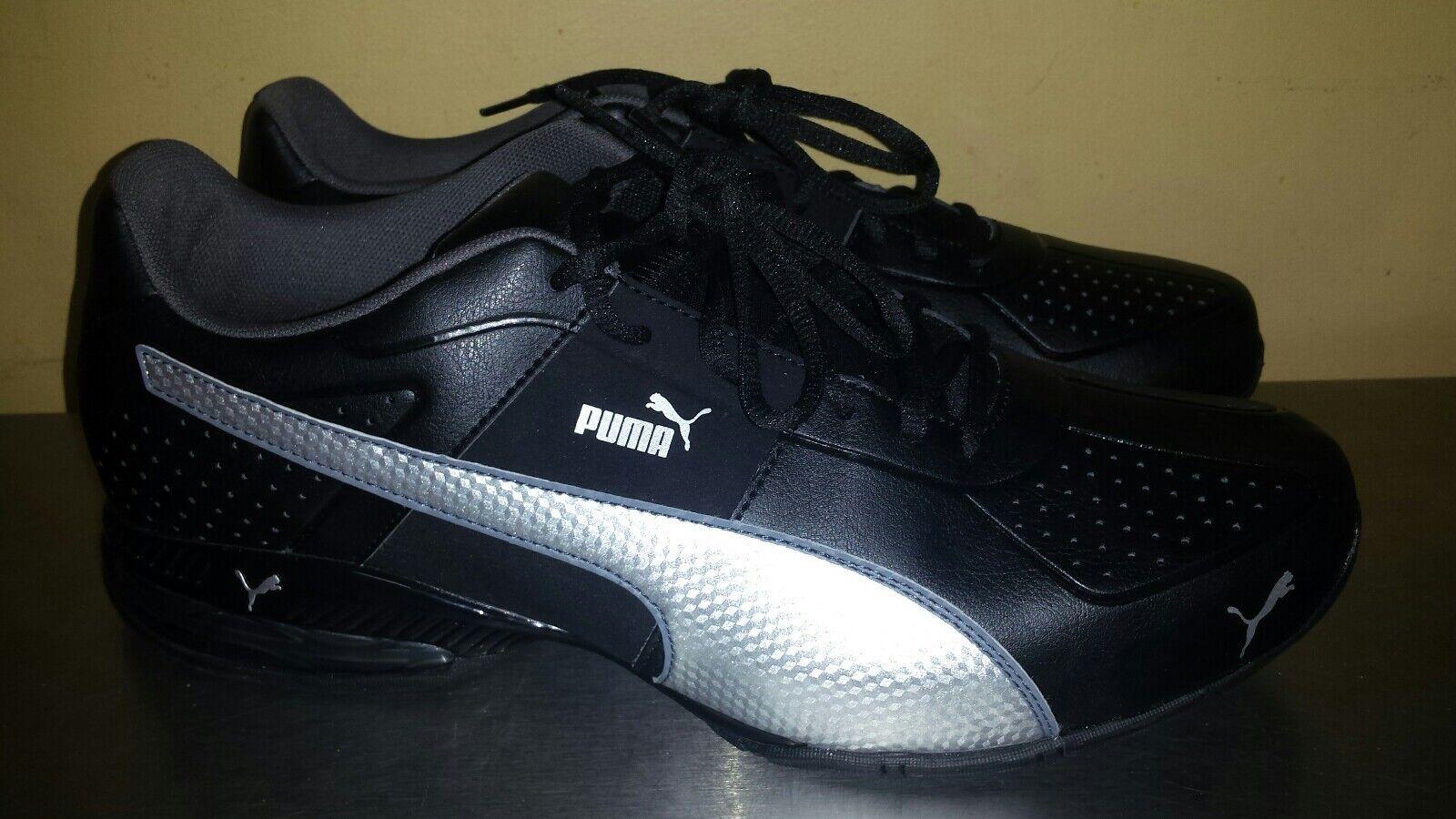 Puma Cell  Surin 2 FM Zapatos  Cell para hombre negro plata tenis Para Correr Atlético 5e12c1