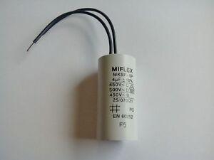 Condensateur Permanent Demarrage Moteur 16µF 16UF 450V à Fils