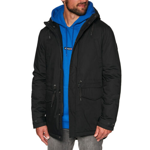 Flint Black All Sizes Element Roghan Mens Jacket