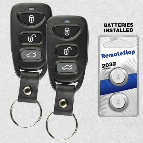 2 For 2007 2008 2009 2010 Hyundai Sonata Elantra Keyless Entry Remote Key Fob