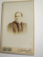 Freising - 1900 - Frau im Kleid - Portrait / CDV
