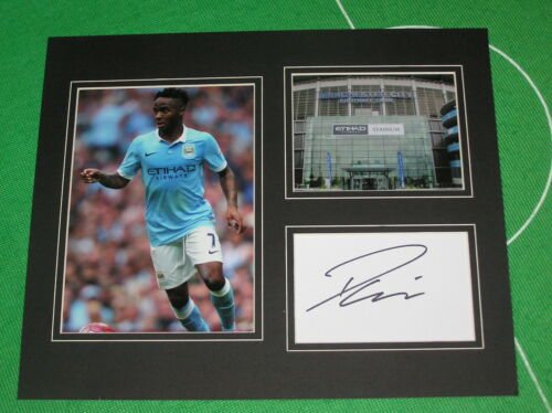 Raheem Sterling Signed Manchester City FC Mount