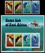 Tansania 1977 - Mi-Nr. 66-69 & Block 4 ** - MNH - Fische / Fish