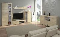 Living Room Furniture Set Sonoma Cabinet Cupboard Tv Shelf Entertainment Unit