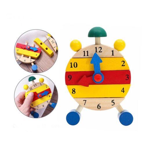 Ökologisch Lernspielzeug Lernuhr Holz Puzzle 8,5 cm Durchmesser Pädagogisch
