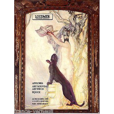 Catalogue de vente Loudmer Art 1900 Nouveau Art Deco Affiche ancienne 1994