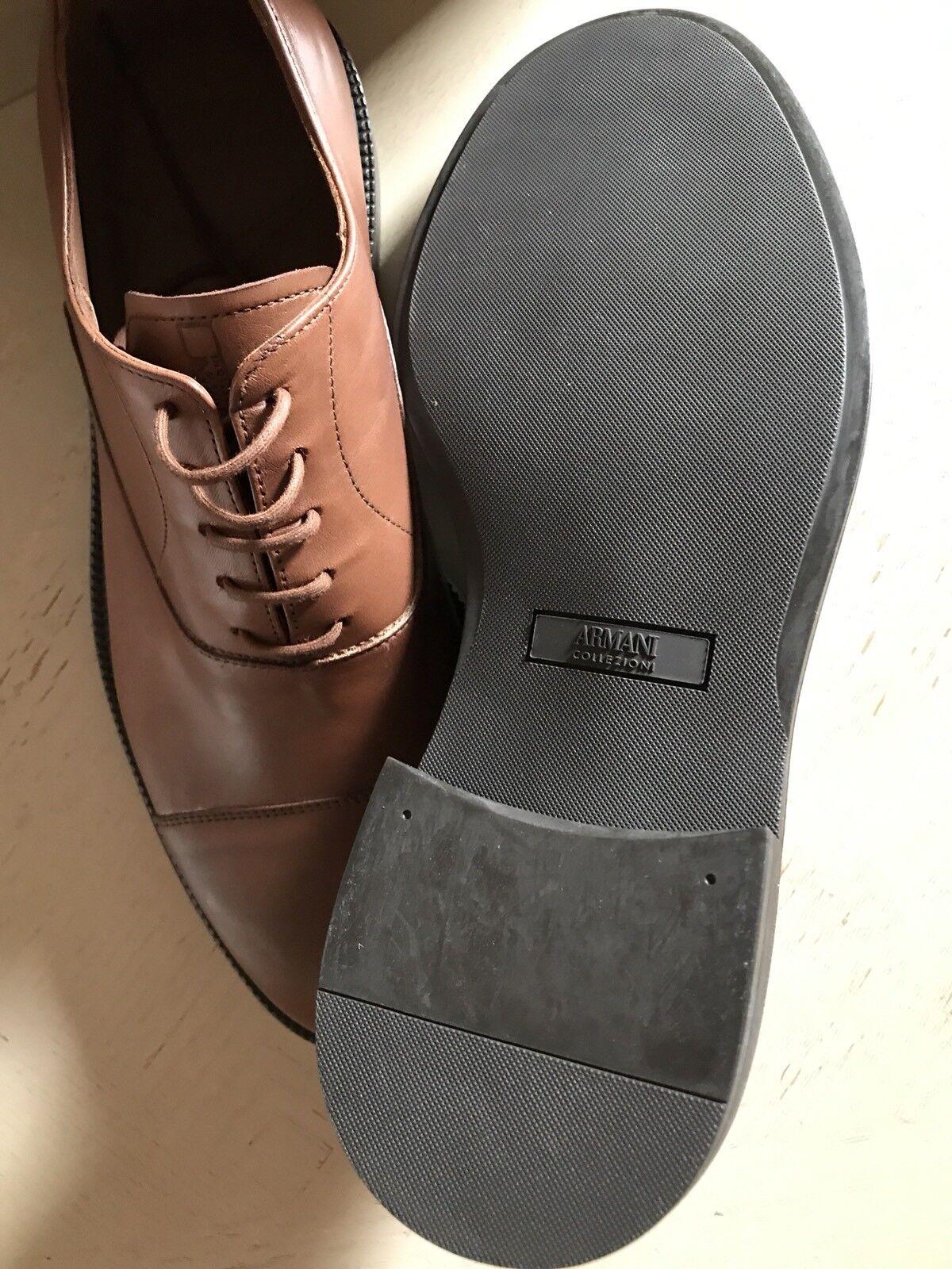 New 675 Armani marrone Collezioni Scarpe Uomo Pelle Oxford Scarpe Collezioni marrone   487ad7