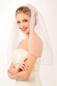 HBH-Einlagiger-Brautschleier-aus-feinem-Tuell-mit-Perlen-bestickt-Laenge-60cm-80cm