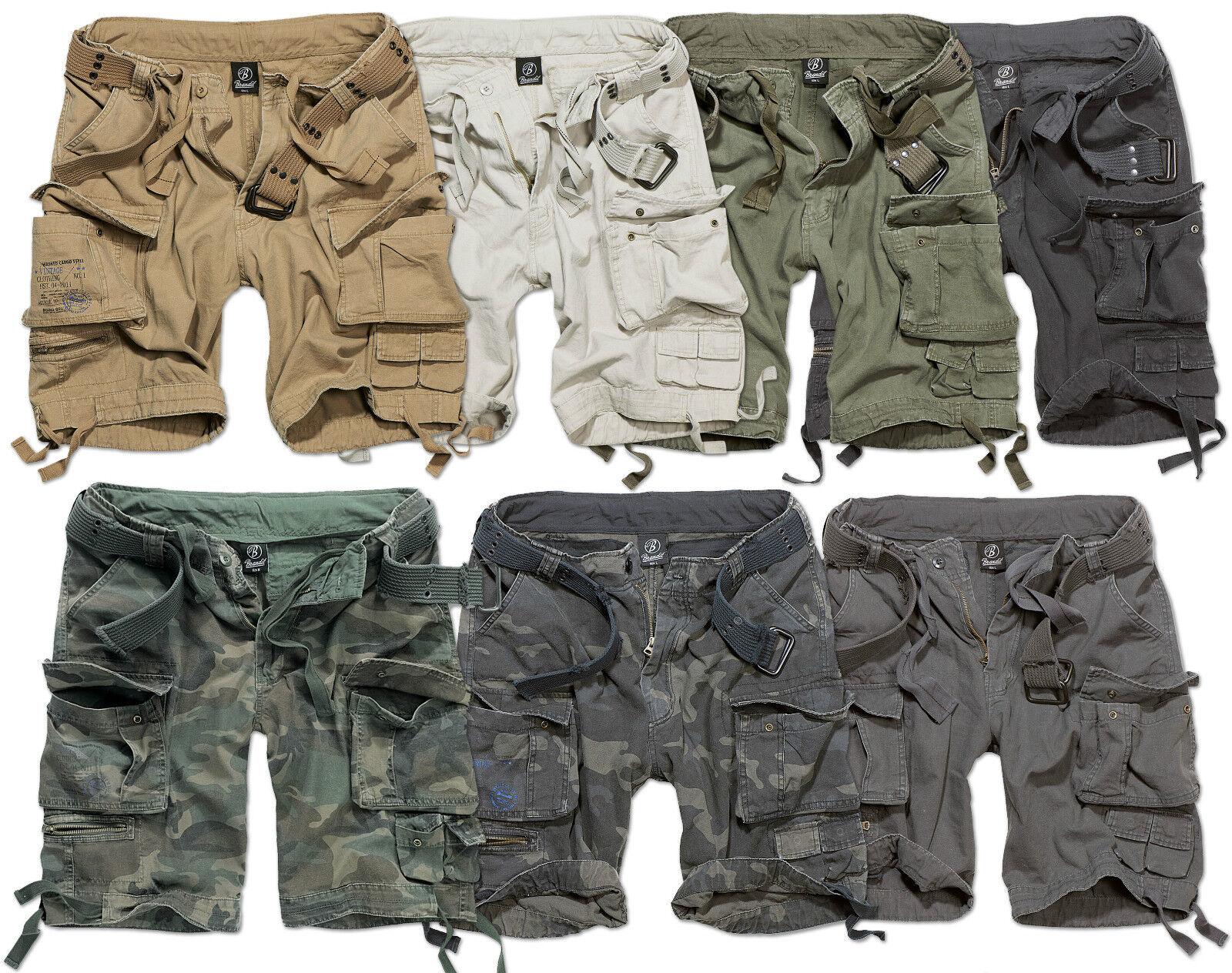 Brandit Savage Lusso Pantaloncini Militari Meda men Vintage Stile Militare