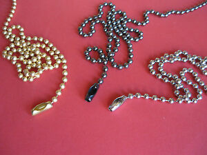 BEST QUALITY ROMAN ROLLER BLIND METAL COLOURED BEADED PULL CHAIN, SPARES PARTS