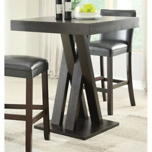 Square Bar Table Room Kitchen Pub Dining Furniture Bistro Dinette