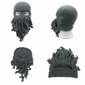 6c224af81ef80 Fashion Tentacle Octopus Cthulhu Knit Beanie Hat Cap Wind Ski Face ...