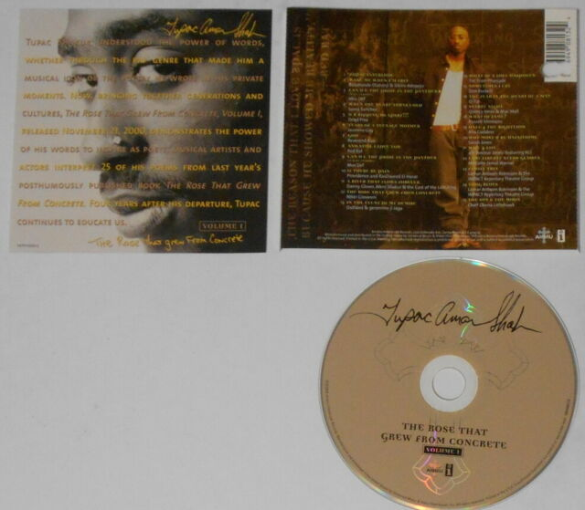 Tupac Shakur - The Rose That Grew From Concrete - U.S cd ...