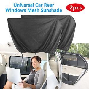 2x Car Side Front Rear Window Mesh Sun Visor Shade Cover Shield UV Protector