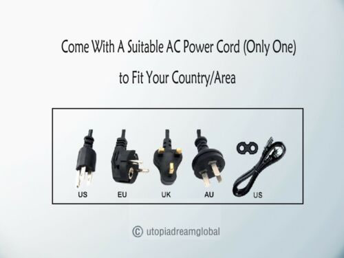 AC Power Cord for ION Block Rocker iPA76C iPA76A iPA76S ION Tailgater Bluetooth