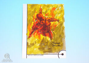 2013-Fleer-Marvel-Retro-Human-Torch-Sketch-Card-Jomar-Bulda-Original-Art-1-1