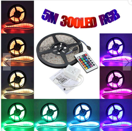 5mt Strip LED RGB smd5050 Waterproof 72w//5mt 12v Remote Control Controller